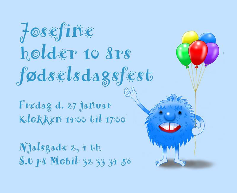 Fødselsdags invitation til børnefødselsdag.