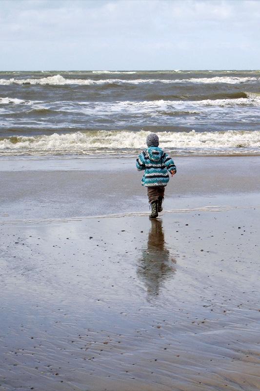 Dreng ved Vesterhavet.