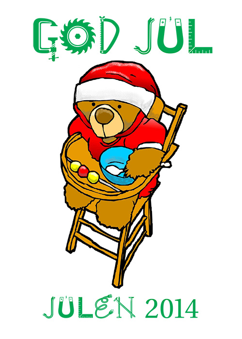 Julekort lavet i 2014.