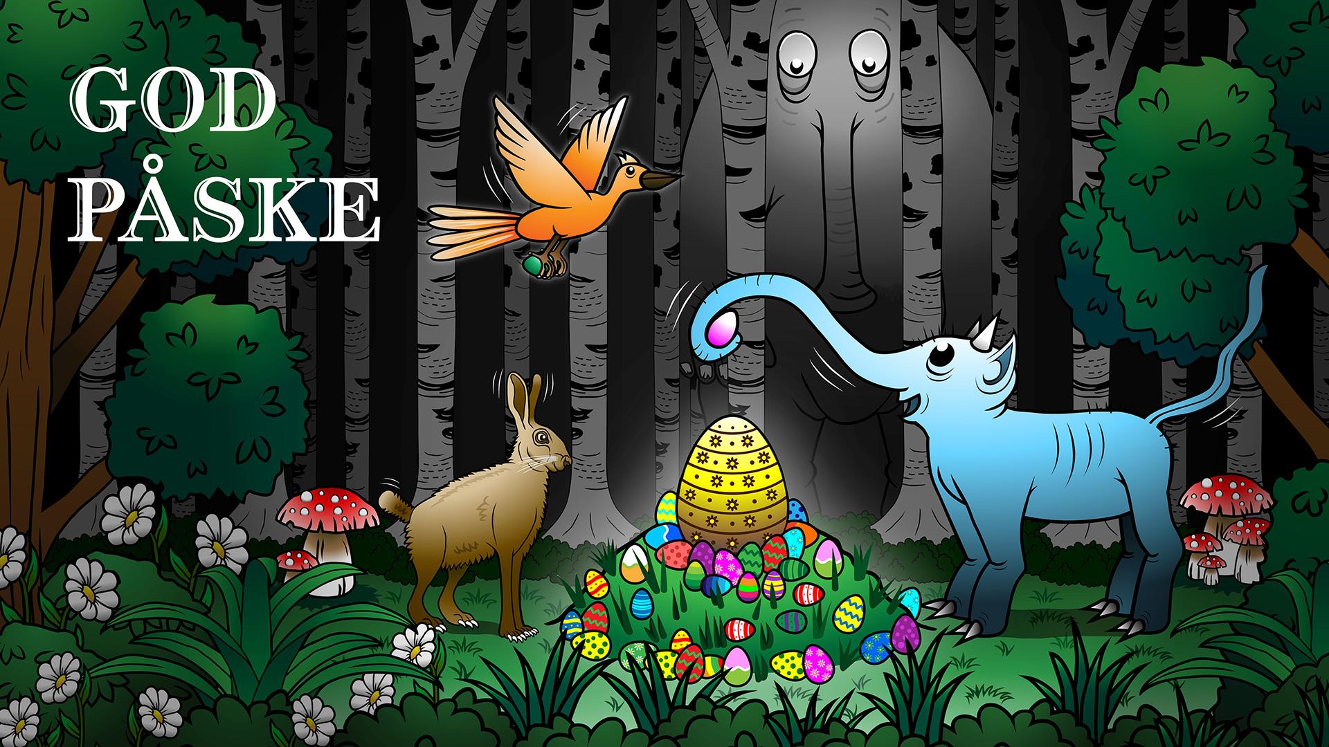 God Påske: Illustration er en vektortegning lavet i Adobe Illustrator.