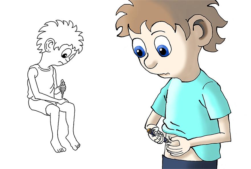 Type-1 diabetiker tager insulin.