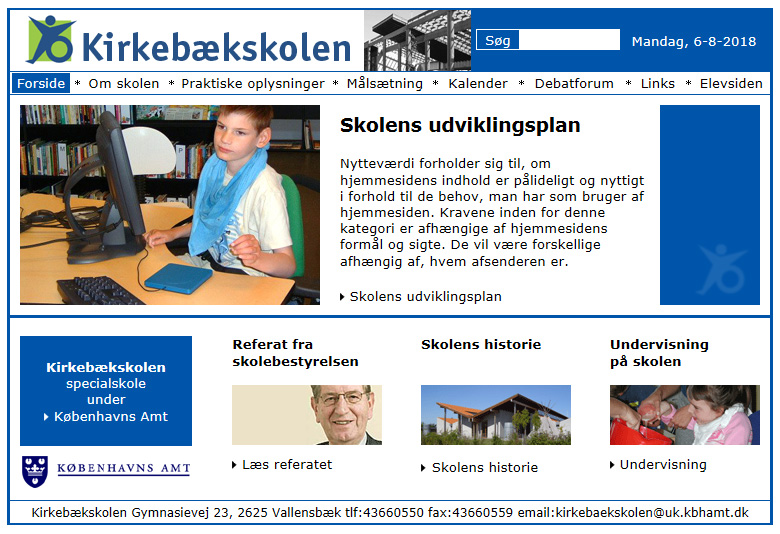 Kirkebækskolen: Specialskole for multiple funktionsnedsatte.