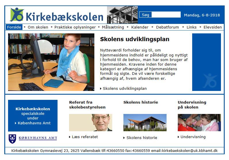 Kirkebækskolen: Specialskole for multiple funktionsnedsatte børn og unge.