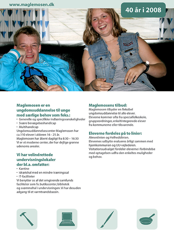 Brochure for Ungdomsuddannelsescenter Maglemosen..