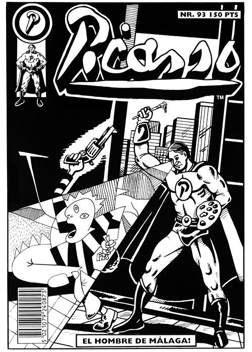 Picasso: Illustration lavet for billedkunstneren Tommy Støckel.